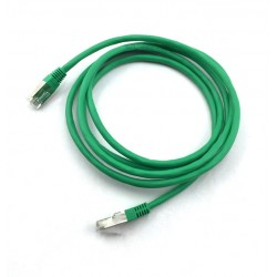 Cabo de rede 2 Metros Patch Cord CAT 6E Verde Blindado