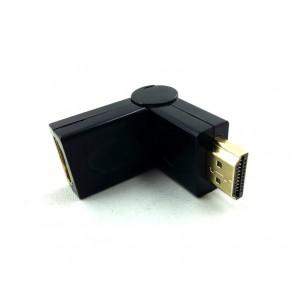 Conector emenda HDMI M X F Com Rotação de 180°