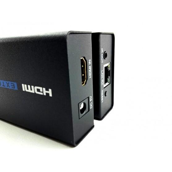 Distribuidor Extensor HDMI via RJ45 Cat5/Cat6 de até 100 Metros