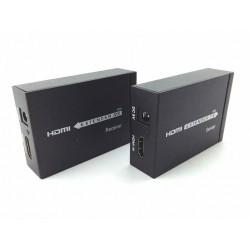 Extensor HDMI via Cabo de rede Cat5e/Cat6 até 60 Metros