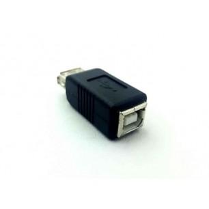 Adaptador USB A Fêmea X USB B Fêmea