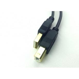 Cabo USB A M x B M 3,00 Metros C/ Filtros Pontas de Ouro