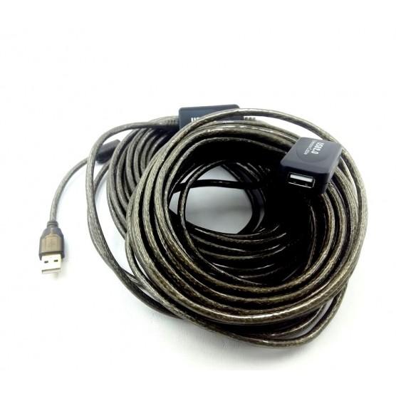 Extensor USB  Ativo com Repetidor USB AM X  AF 20 Metros