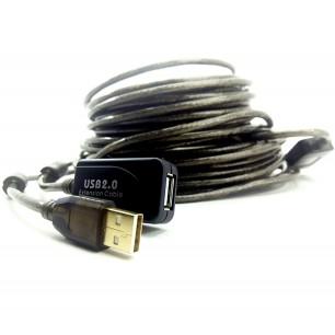 Extensor USB Ativo com Repetidor USB A Macho X A Fêmea 20,00 Metros