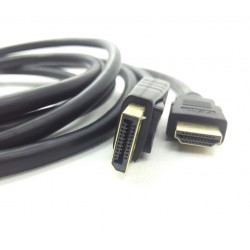 Cabo Displayport Macho X HDMI Macho de 3 Metros