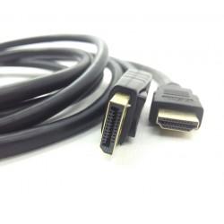 Cabo Displayport Macho X HDMI Macho de 3 Metros
