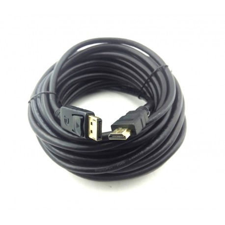 Cabo Displayport Macho X HDMI Macho de 10 Metros