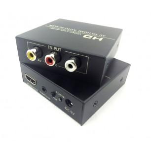Conversor de vídeo Composto + RCA (R/L) X HDMI