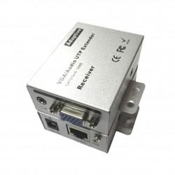 Extensor VGA Via Cabo de Rede até 100 Metros Com Áudio