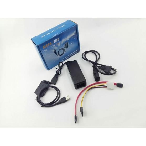 Cabo conversor USB 2.0 para IDE e Sata C/ Alimentação
