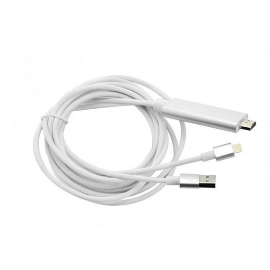 Cabo MHL para HDMI HDTV- IPhone de 1,80 Metros