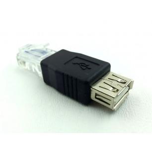 Adaptador padrão USB fêmea para Rj45 rede