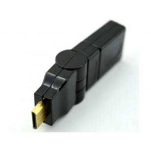 Adaptador HDMI Fêmea X Mini HDMI M Rotacional 360°