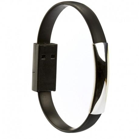 Pulseira Bracelete portátil USB V8 Micro para Smartphone