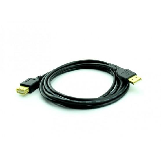 Cabo Extensor USB A Macho X A Fêmea 1,80 Metros Pontas de Ouro