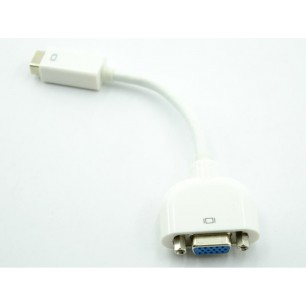 Adaptador Mini Dvi(24+1) Macho Imac E Macbook X Vga Fêmea