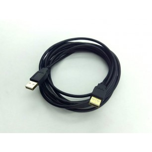 Cabo USB A M X A M Com 3 Metros Pontas Ouro