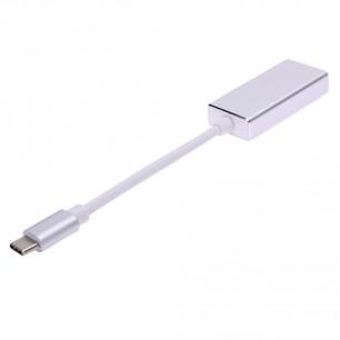 Cabo USB 3.1 Tipo-C x Mini Displayport Fêmea de 18 CM