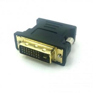Adaptador DVI 24 +1 Macho x VGA Fêmea