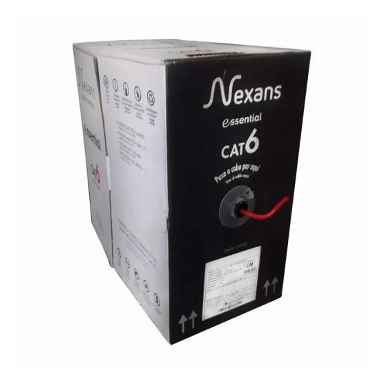 Cabo de rede CAT6 305 metros - Nexans Essential cor vermelho