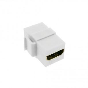 Emenda HDMI para parede Keystone