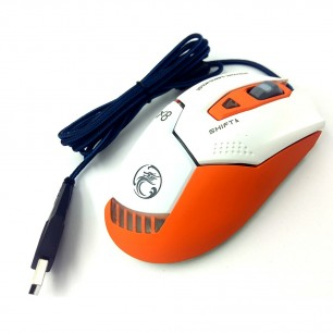 Mouse Gamer X9 2400 DPI 6 Botões LED RGB Orange