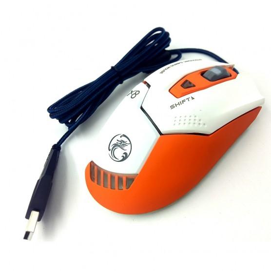 Mouse Gamer X9 2400 DPI 6 Botões LED RGB Orange