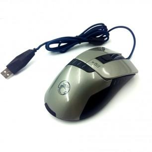Mouse Gamer X8 2400 DPI 6 Botões LED RGB Prata