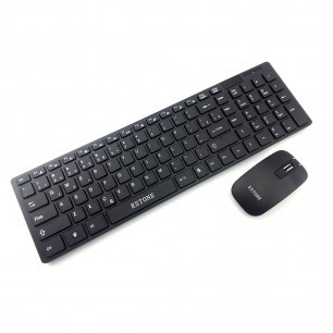 Kit Teclado e Mouse Slim Wireless sem fio