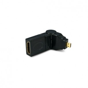 adaptador mini hdmi macho x hdmi fêmea 360º