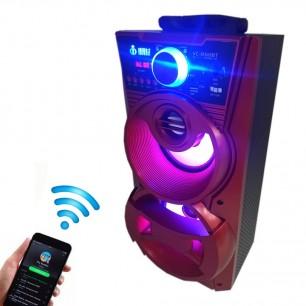 Caixa de Som Portátil Bluetooth Voxcube Visor LED 12W