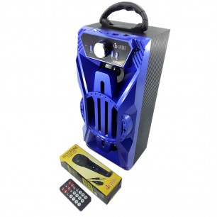 Som Portátil Bluetooth Voxcube Visor Led 14W S Bass 3 falantes Subwoofer