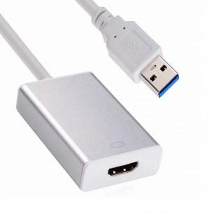 Cabo conversor USB para HDMI c/ audio p2 - 1080 p com cd de instalaçâo