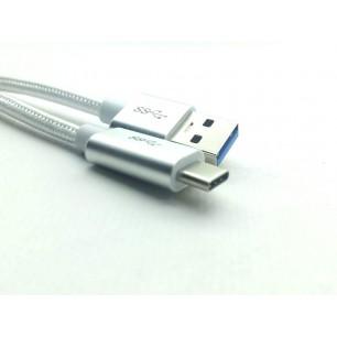Cabo USB 3.1 Tipo C Macho Para USB 3.0 Macho de 1Metro