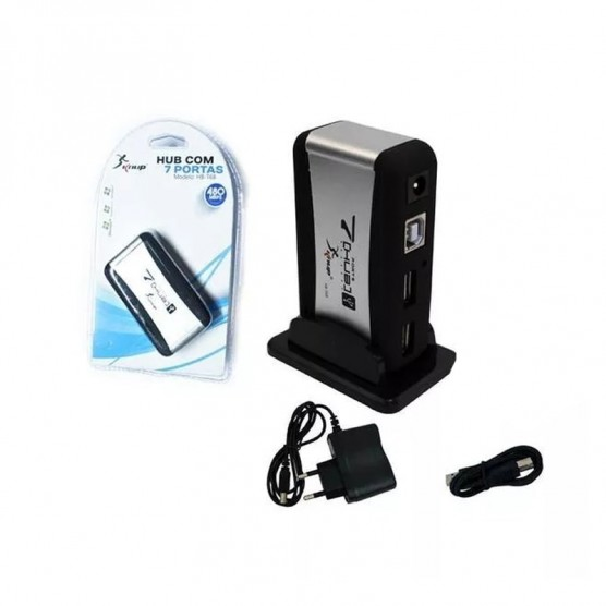 Mini HUB USB 2.0 com 7 Portas