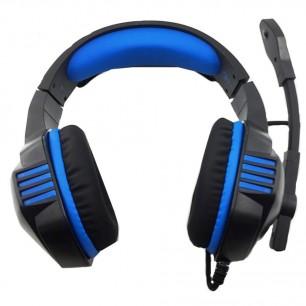 Fone Headset Gamer P2 USB Azul com Microfone