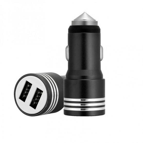 Carregador USB Duplo Auto Rápido 12V