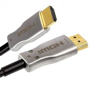 Cabo HDMI 2.0 4K Fibra Óptica de 30 Metros Plug Desmontável