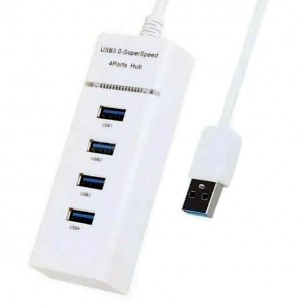 Hub Usb 3.0 de 4 Portas 5Gbps Branco