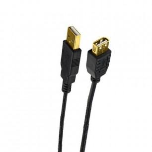 Cabo Extensor USB A Macho X A Fêmea 3,00 Metros Pontas de Ouro