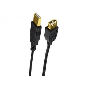 Cabo Extensor USB A Macho X A Fêmea 5,00 Metros Pontas de Ouro