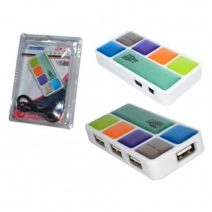 MINI HUB USB 2.0 – 4 PORTAS
