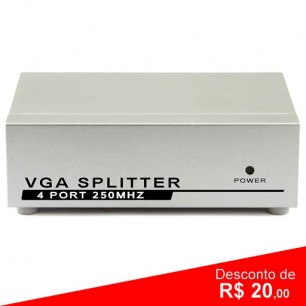 Vídeo Distribuidor Splitter VGA 1x4