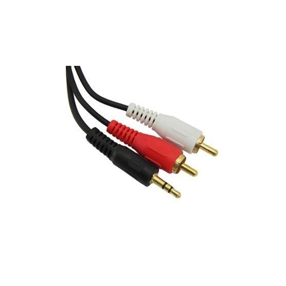 Cabo P2 Macho X RCA 2 Macho 1,50 Metros conectores Gold